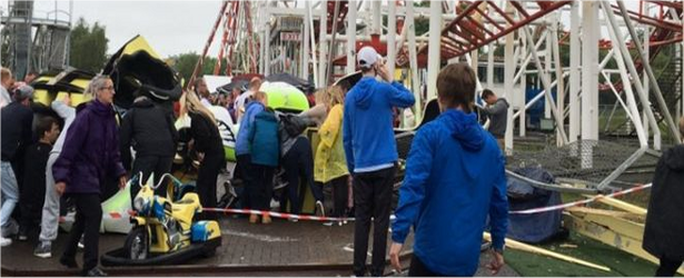 Rollercoaster crashes at M&D's theme park in Motherwell